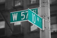 Calles numeradas Fotos de archivo libres de regalías