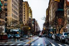 Calles ocupadas de Nueva York de 2019 imagenes de archivo