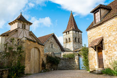 Calles pacíficas del carennac, Francia Imagenes de archivo