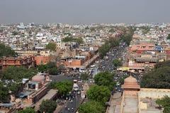 Calles panorama, la India de Jaipur Imagen de archivo