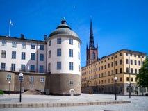 Calles preciosas en Estocolmo en el verano foto de archivo libre de regalías