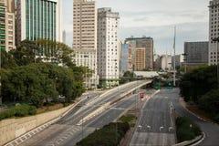 Calles vacías en Sao Paulo Fotos de archivo