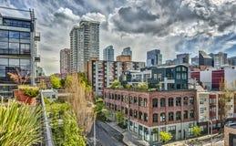 Calles vacantes de Seattle Imagen de archivo libre de regalías