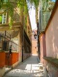 Calles viejas de la ciudad vieja, Varsovia Fotografía de archivo