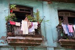 Calles viejas en el vieja de Habana, Cuba fotos de archivo