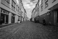 Calles viejas en la parte histórica de la ciudad Fotos de archivo