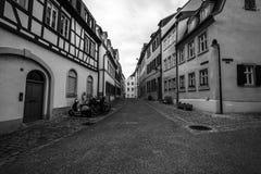 Calles viejas en la parte histórica de la ciudad Fotos de archivo libres de regalías