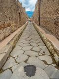 Calles y chalets de Pompeya, Italia Lista del patrimonio mundial imagen de archivo libre de regalías