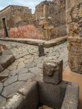 Calles y chalets de Pompeya, Italia Lista del patrimonio mundial fotografía de archivo libre de regalías