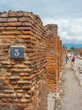 Calles y chalets de Pompeya, Italia Lista del patrimonio mundial fotos de archivo