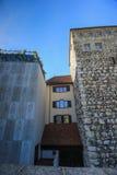 Calles y edificios de Aarau, Suiza Foto de archivo libre de regalías
