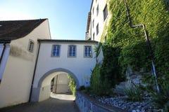 Calles y edificios de Aarau, Suiza Imagen de archivo