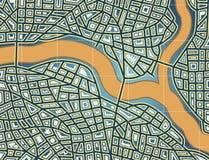 Calles y río Foto de archivo