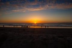 Calliforniazonsondergang in San Diego Royalty-vrije Stock Afbeeldingen