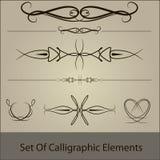 calliggraphic setvektor Fotografering för Bildbyråer