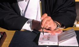 Calligrafia Fotografia Stock
