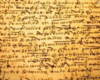 Calligrafia antica Fotografia Stock Libera da Diritti
