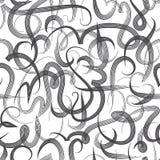 Calligrafia araba dell'ornamento senza cuciture del modello del concetto di Eid Mubarak del testo per il festival di comunità mus Fotografia Stock Libera da Diritti