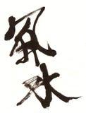 Calligrafia del cinese di Feng Shui Fotografia Stock