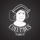 Calligrafia del ritratto di giorno di Colombo Immagini Stock