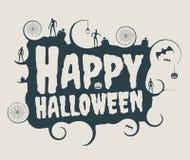 Calligrafia del testo di Halloween Fotografia Stock