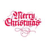 Calligrafia dell'annata di Natale Immagini Stock