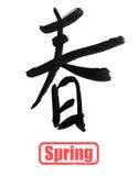 Calligrafia della primavera Fotografia Stock