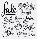 Calligrafia della scrittura del best-seller e di vendita Immagini Stock