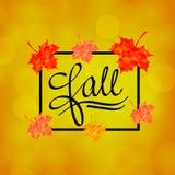 Calligrafia di autunno Iscrizione stagionale di caduta Royalty Illustrazione gratis