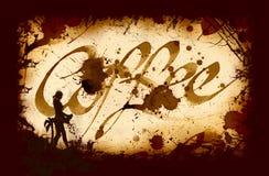 Calligrafia di Cofee Fotografia Stock