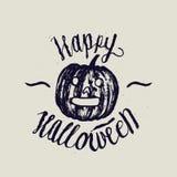 Calligrafia di Halloween iscrizione della zucca Immagine Stock