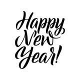 Calligrafia di nuovo anno felice illustrazione di stock