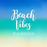 Calligrafia di vibrazioni della spiaggia Immagine Stock Libera da Diritti
