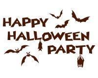 Calligrafia felice del partito di Halloween Fotografia Stock