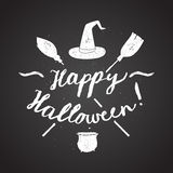 Calligrafia felice di Halloween Fotografia Stock Libera da Diritti