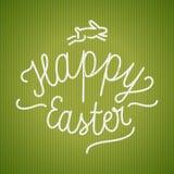 Calligrafia felice di Pasqua Telefono mobile giallo Fotografie Stock Libere da Diritti