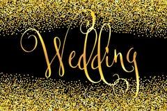 Calligrafia moderna di nozze Immagini Stock