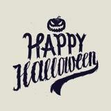 Calligrafia spaventosa felice di Halloween Immagine Stock Libera da Diritti