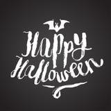 Calligrafia spaventosa felice di Halloween Fotografie Stock Libere da Diritti