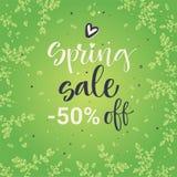 Calligrafia variopinta di vendita della primavera illustrazione di stock
