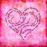 Calligram I love you international Royalty Free Stock Image