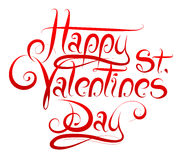 Calligrapgy for St Valentines Day Royalty Free Stock Images