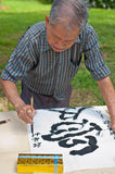Calligrapher creating work Royalty Free Stock Images