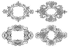 Calligraphia Ornament Clip Art Vector line Art Royalty Free Stock Photography