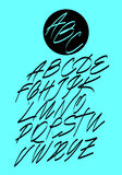 Calligraphic alphabet. Design elements Stock Image