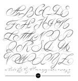 Calligraphic alphabet. Design elements Stock Photography