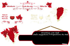Calligraphic artistic wine design Royalty Free Stock Photos