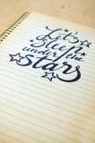 Calligraphic background with romantic quote Stock Photo