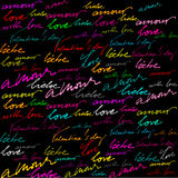 Calligraphic background for valentine's day Royalty Free Stock Image