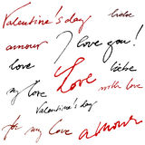 Calligraphic background for valentine's day Stock Photo